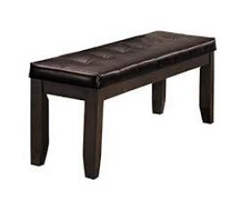 Ameilla by Homelegance Charcoal Brown Finish Bench 586GY-14