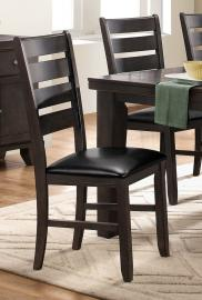 Ameilla by Homelegance Charcoal Brown Finish Dining Side Chair 586GYS Set of 2