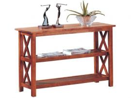 Coaster 5908 Brown Side X Design Sofa Table