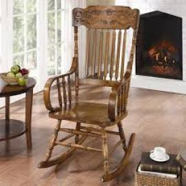 Coraline Collection 600175 Warm Brown Rocking Chair