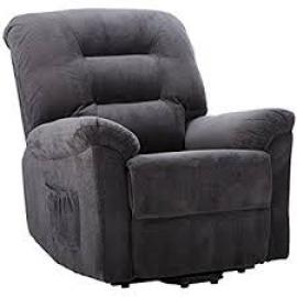 Maria Collection 600398 Charcoal Power Lift Recliner