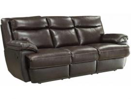 Macpherson by Coaster 601811P Espresso Top Grain leather Match Power Reclining Sofa