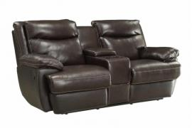 Macpherson by Coaster 601812P Espresso Top Grain leather Match Power Reclining Loveseat