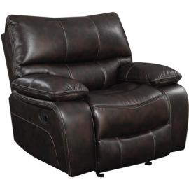 Willemse Dark Brown Leatherette Motion Single Recliner 601933 by Coaster