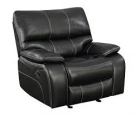 Willemse Black Leatherette Motion Single Recliner 601936 by Coaster