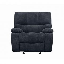 Perry by Coaster 601939 Dark Grey Linen Fabric Recliner