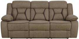 Houston Tan Leatherette Motion Reclining Sofa 602264 by Coaster