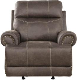 Brixton by Coaster 602443 Buckskin Brown Coated Microfiber Fabric Recliner