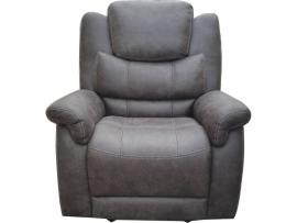 Wyatt by Coaster 602453 Grey Coated Microfiber Fabric Recliner
