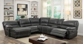 Estrella 6131GY Gray Reclining Console Chaise Sectional Sofa