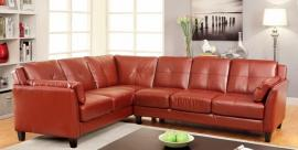 Pierre Collection 6268RD Red Sectional Sofa