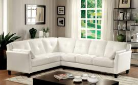 Pierre Collection 6268WH White Sectional Sofa