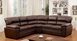 Rio 6325BR Brown Leatherette Sectional Sofa