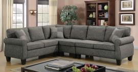 Rhian 6329GY Gray Rolled Arm Sectional