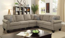 Rian 6329LG Light Gray Rolled Arm Sectional