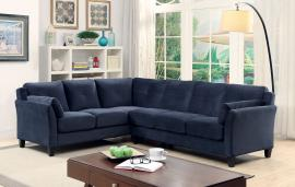 Peever 6368NV Navy Blue Contemporary Sectional Sofa