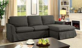Maxine 6379GY Gray Knife Edge Sectional Sofa