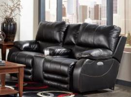 Sheridan Black Collection 64279 by Catnapper Lay Flat Power Reclining Loveseat