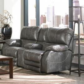 Sheridan Steel Collection 64279 by Catnapper Lay Flat Power Reclining Loveseat
