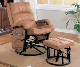 Goble Collection 650005 Brown Microfiber Glider Rocker Recliner