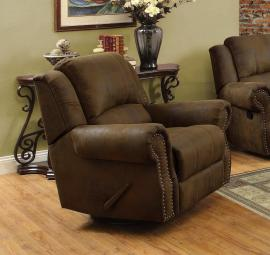 Rawlinson Collection 650153 Brown Swivel Rocker Recliner