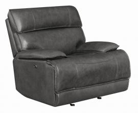 Stanford by Coaster 650223P Charcoal Top Grain leather Match Power Recliner