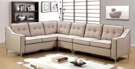 Glenda 6851BG Beige  Contemporary Sectional Sofa