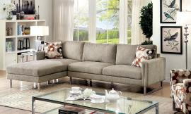 Lauren 6856 Grey Contemporary Sectional