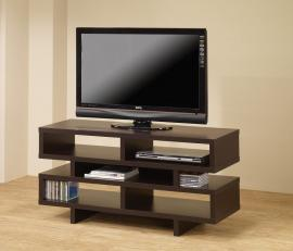 Tiffany Collection 700720 Cappuccino Contemporary TV Stand