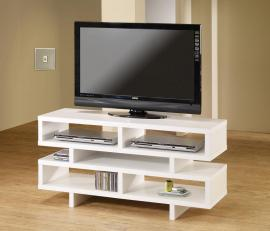 Tiffany Collection 700721 White Contemporary TV Stand