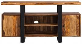 Knox by Scott Living 700890 Natural & Black TV Console
