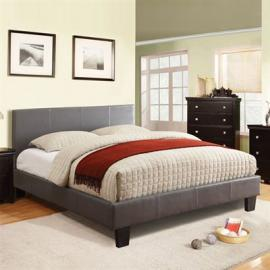 Barona 7008GYT Gray Platform Twin Bed Frame
