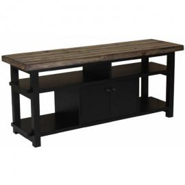 Wylder by Scott Living 701062 Rustic Brown & Black TV Console