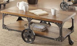 Coaster 701128 Rustic Brown Coffee Table