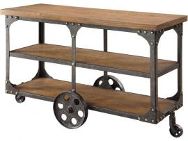Coaster 701129 Rustic Wood & Metal Sofa Table