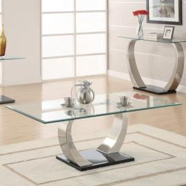 Coaster 701238 Chrome Finish Coffee Table