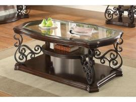 Coaster 702448 Deep Merlot Coffee Table