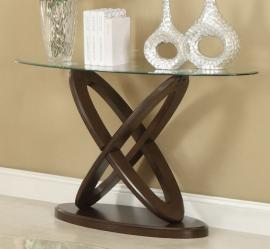 Coaster 702789 Interlocking Oval Glass Top Sofa Table