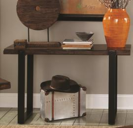Coaster 703429 Mahogany Wood & Metal Sofa Table