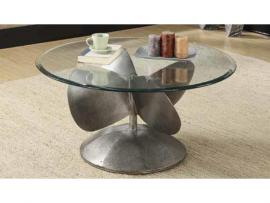 Coaster 704558 Aged Metal Coffee Table