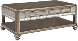Coaster 704618 Metallic Platinum Finish Coffee Table