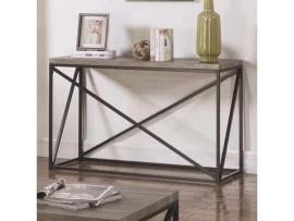 Coaster 705619 Grey Industrial Sofa Table