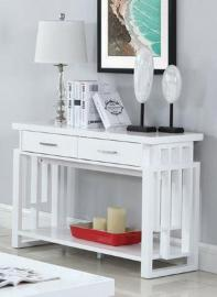 Coaster White 705709 High Gloss Sofa Table