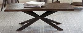 Scott Living 705818 Rustic Brown & Antique Perter Coffee Table
