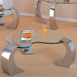 Coaster 720058 Chrome Finish Coffee Table