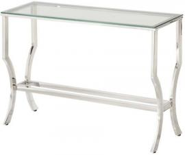 Coaster Modern Glam 720339 Glass & Chrome Sofa Table