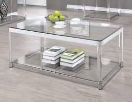 Coaster 720748 Chrome & Clear Acrylic Finish Coffee Table