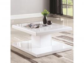 Coaster 721098 Glossy White Finish Coffee Table