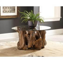 Scott Living 721668 Natural Light Brown Coffee Table