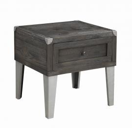Coaster 722267 Rustic Grey End Table Storage Drawer
